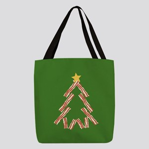 bacon-tree_9x9 Polyester Tote Bag