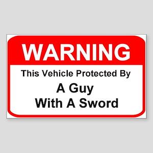 Vehicle Warning - Rectangle Sticker