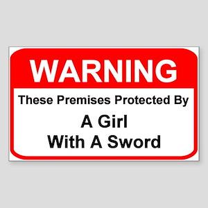 Premises Warning - Rectangle Sticker
