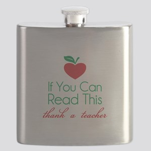 If you can read this thank a teacher Flask