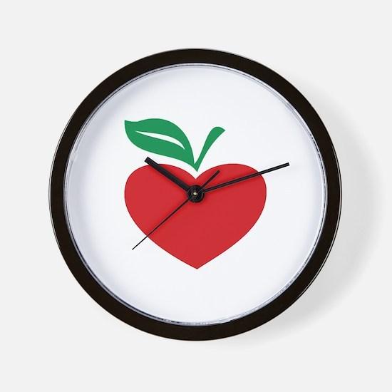 Apple heart Wall Clock