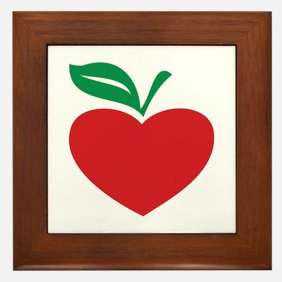 Apple heart Framed Tile