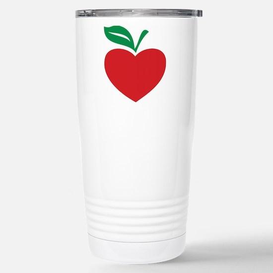 Apple heart Stainless Steel Travel Mug