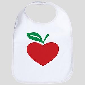 Apple heart Bib