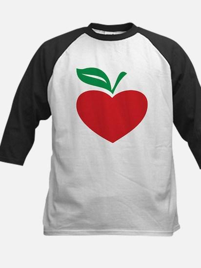 Apple heart Kids Baseball Jersey