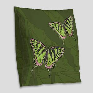 Celtic Swallowtail Burlap Throw Pillow