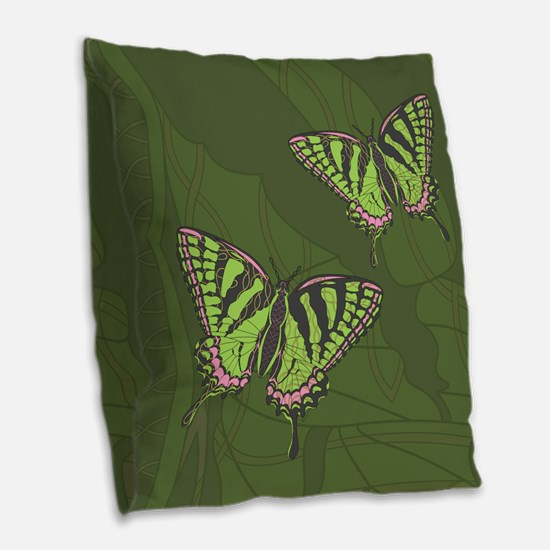 Celtic Swallowtail Burlap Throw Pillow