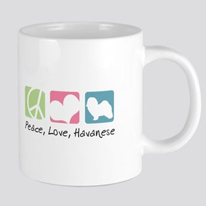 Peace, Love, Havanese Mugs