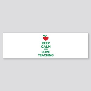Keep calm and love teaching Sticker (Bumper)