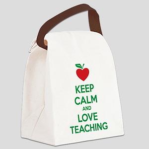 Keep calm and love teaching Canvas Lunch Bag