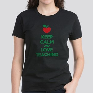 Keep calm and love teaching Women's Dark T-Shirt