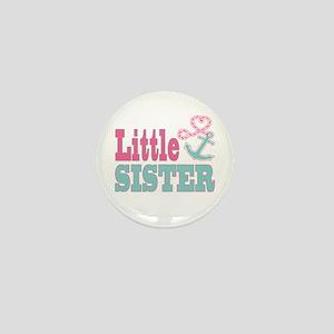 Little Sister Cute Nautical Anchor and Heart Mini