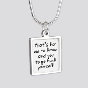 Go Fuck Yourself Silver Square Necklace