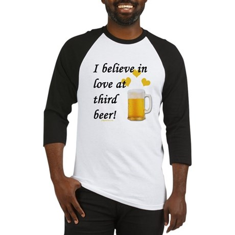 Love at third beer Baseball Jersey
