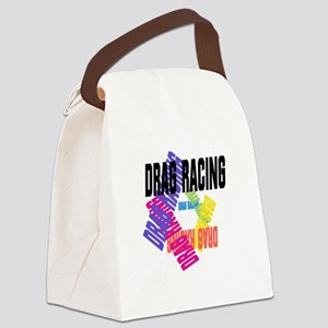 Drag Racing Canvas Lunch Bag