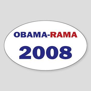 Obama-rama 08 A Oval Sticker