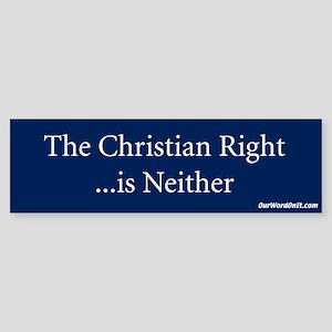 Bumper Sticker: Christian Right