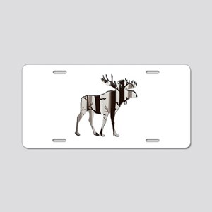 SHADOW OF MOOSE Aluminum License Plate