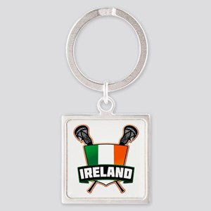 Ireland Irish Lacrosse Team Logo Keychains