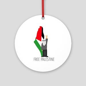 www.palestine-shirts.com Round Ornament