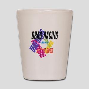 Drag Racing Shot Glass