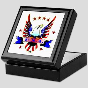 U.S.A. Old School Eagle Tattoo Keepsake Box