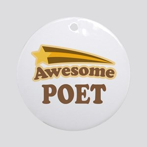 Awesome Poet Ornament (Round)