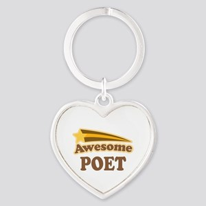 Awesome Poet Heart Keychain