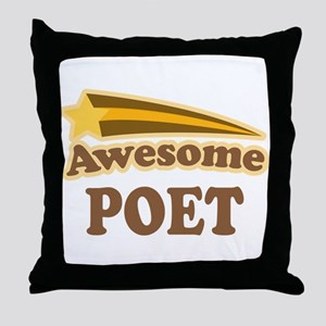 Awesome Poet Throw Pillow