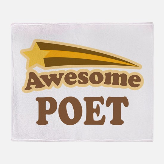 Awesome Poet Throw Blanket