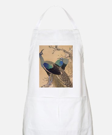 A Pair of Peacocks by Imao Keinen Apron