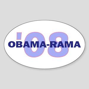 Obama-rama 08 B Oval Sticker