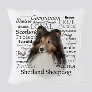 Sheltie Traits Woven Throw Pillow