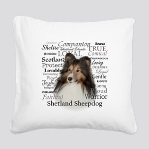 Sheltie Traits Square Canvas Pillow