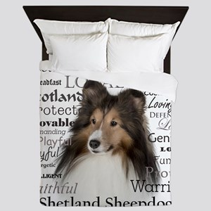 Sheltie Traits Queen Duvet
