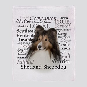 Sheltie Traits Throw Blanket