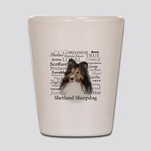 Sheltie Traits Shot Glass