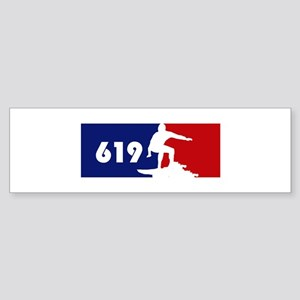 619 Surf Bumper Sticker