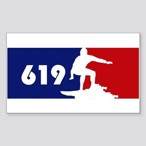 619 Surf Rectangle Sticker