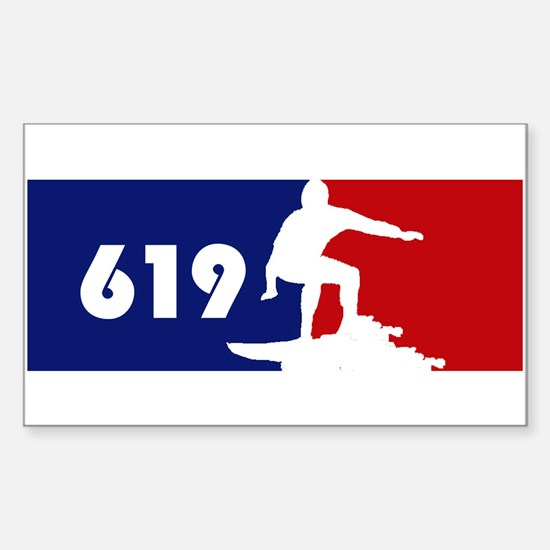 619 Surf Rectangle Decal