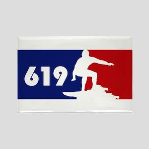 619 Surf Rectangle Magnet
