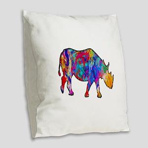 LIGHTED WAY Burlap Throw Pillow