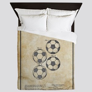 Original 1964 Vintage Soccer Ball Pate Queen Duvet