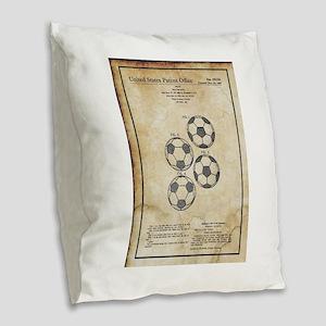 Original 1964 Vintage Soccer B Burlap Throw Pillow