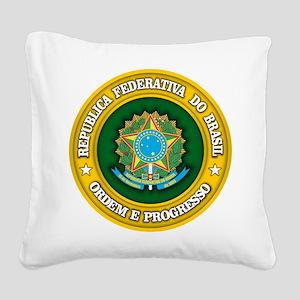 Brazil Medallion Square Canvas Pillow