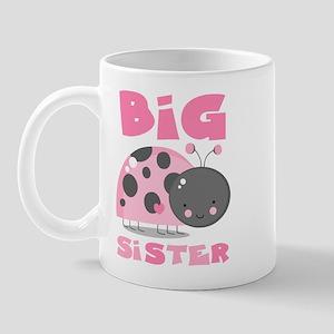 Pink Ladybug Big Sister Mug