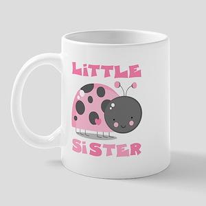 Pink Ladybug Little Sister Mug