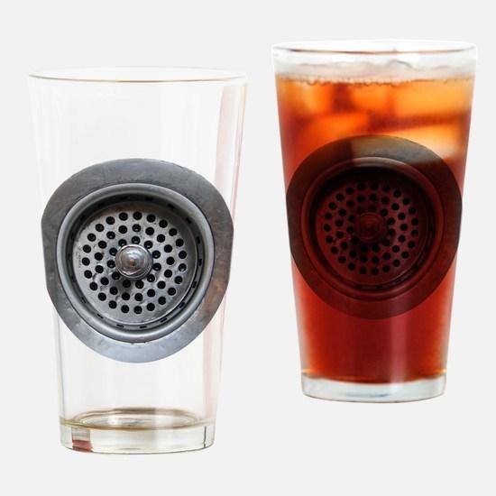 Kitchen Sink Drain Drinking Glass
