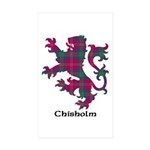 Lion - Chisholm Sticker (Rectangle 10 pk)