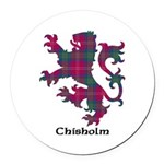 Lion - Chisholm Round Car Magnet